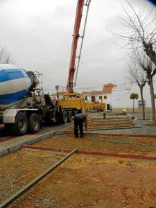Obras en la calle Huelva de Palos.