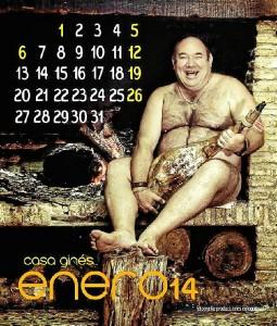 El mes de enero del calendario.