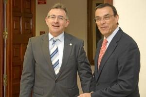 El rector y el presidente de la Diputación de Huelva.
