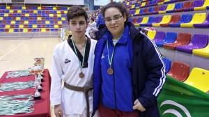 Jesús del Toro y Maria José Rodríguez, tekwondocas palmerinos.
