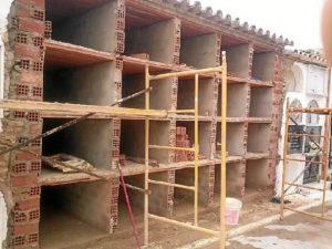 Obras en el cementerio de Paterna.