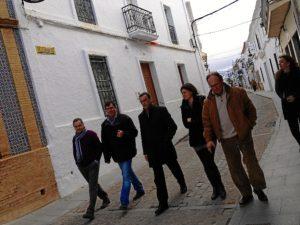 Por las calles de Puebla de Guzmán.
