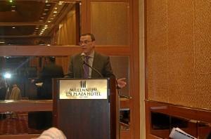 Ignacio Caraballo durante su intervención en la ONU.