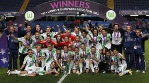 Wolfsburgo, actual campeón de la UEFA Champions League femenina.