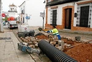 Obras de Aqualia en Cartaya.