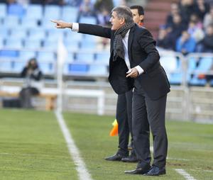 Paco Herrera, entrenador del Zaragoza.