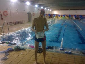 Rafael Chacón, nadador del Club Natación Huelva.