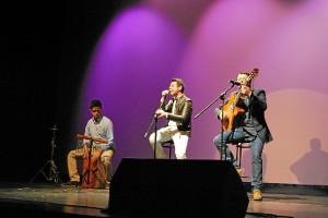 Uno de los grupos que actuaron en el concierto