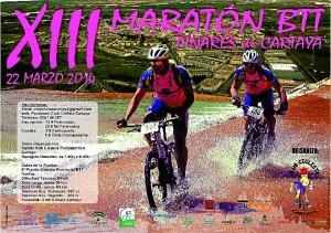 Cartel del XIII Maratón de BTT Pinares de Cartaya.