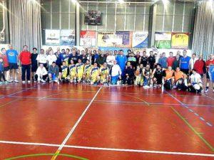 Concetración solidaria de baloncesto en San Juan del Puerto.
