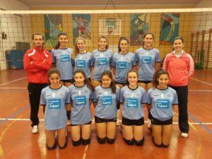Selección cadete femenina de voleibol.
