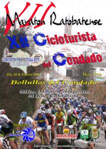 Cartel del Maraton Ratobatense de BTT.