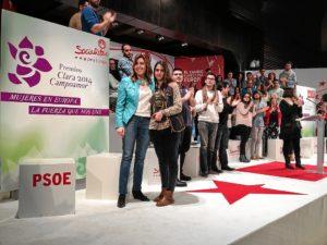 Susana Díaz y Rocío, hija de Cinta Castillo.