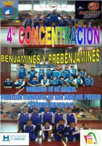 Concentración de benjamines y prebenjamines de baloncesto en San Juan del Puerto.