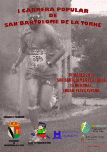 Cartel de la Carrera Popular de San Bartolomé de la Torre.