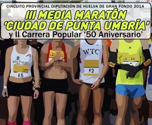Cartel de la Media Maraton de Punta Umbría.