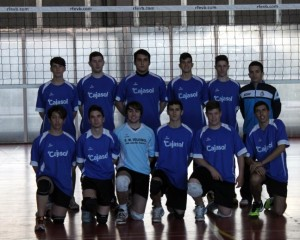 Equipo de voleibol juvenil de San Juan del Puerto.