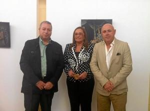 Francis Zamudio, la Alcadesa, Maria Luisa Faneca y el concejal de Cultura, Emilio Bogarin