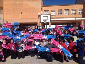 Visita de las jugadoras del CB Conquero al Colegio Manuel Siurot.