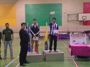Pablo Abián, en el podium de Medina del Campo.