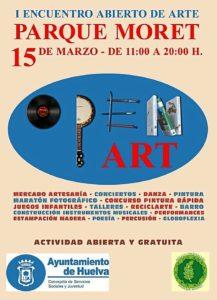 cartel open art Parque Moret
