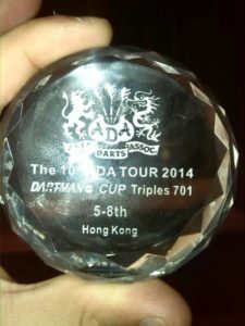 Premio de Sergio Reyes en el Mundial de Dardos.