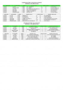Resultados del Mundialito 2014 en Ayamonte.