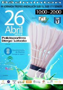Cartel del Trofeo Andalucía de bádminton.