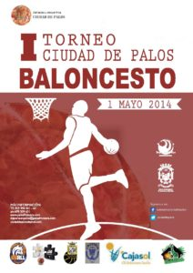 Cartel del torneo de minibasket en Palos de La Frontera.
