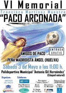 Cartel del Memorial Paco Arconada en Punta Umbría.