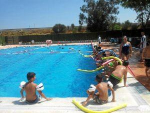 Estado actual de la piscina tras  la reforma de Cueli