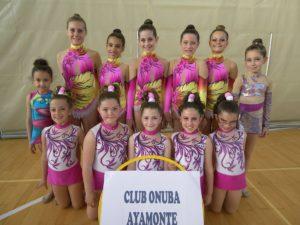 Club Onuba de gimnasia rítmica de Ayamonte.