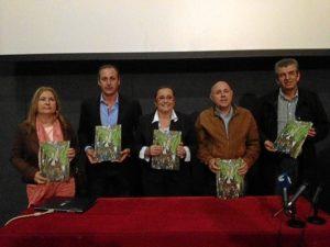La Teniente de Alcalde. Isabel Lopez, el Presidente del Consejo, la Alcaldesa, Maria Luis Faneca  y el Concejal de Cultura, Emilio Bogarin