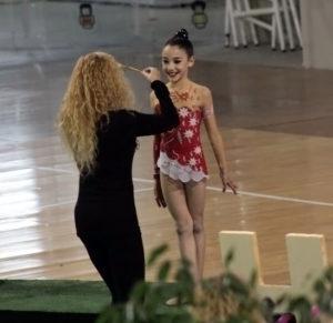 Lucía Boza, gimnasta onubense.