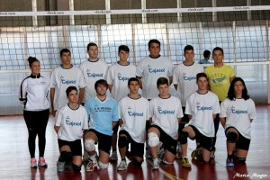 San Juan del Puerto, equipo campeón provincial juvenil masculino de voleibol.