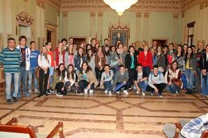 Visita Ayto estudiantes intercambio (1)