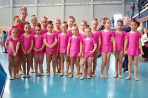 Alumnas de la Escuela de gimnasia rítmica de Beas.