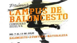 Cartel del Campus deportivo de verano Conquero Huelva.