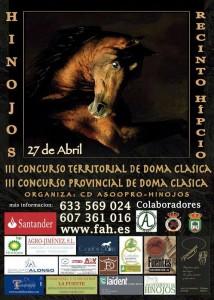 Cartel del concurso de Doma Vaquera en Hinojos.