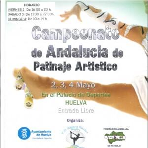 Cartel del Campeonato de Andalucía de Patinaje Artístico.