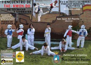 Encuentro de taekwondo en San Juan del Puerto.