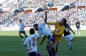 Menosse, autor del gol que valió el empate ante el Córdoba. (Espínola)