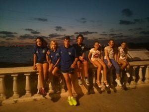 Equipo alevín del Club Natación Huelva.