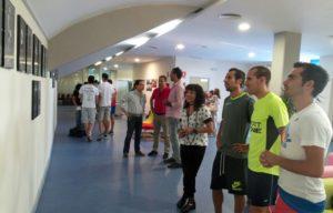 Exposición de los diez años de Meeting de atletismo.