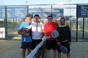 Semifinal masculina del torneo de pádel Adarsa Sur entre  Masc. Carrasco-Moreno Vs Carvalho-Vazquez.