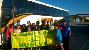 Palistas del Club Piragüismo Tartessos de Huelva.