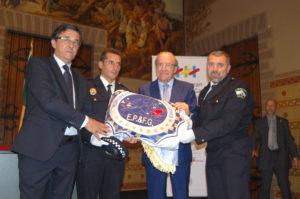Bandera de los VI Juegos de Policías y Bomberos.