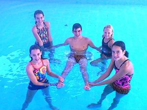 Nadadores alevines del Club Natación Huelva.