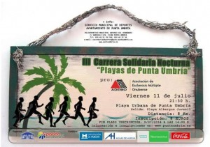 Cartel de la Carrera Nocturna solidaria de Punta Umbría.