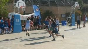 Baloncesto tres por tres en Ayamonte.